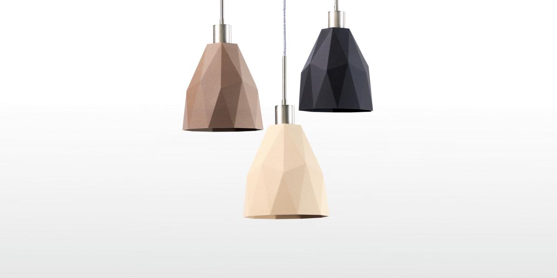 3D gedruckte Lampenschirme HASELUX