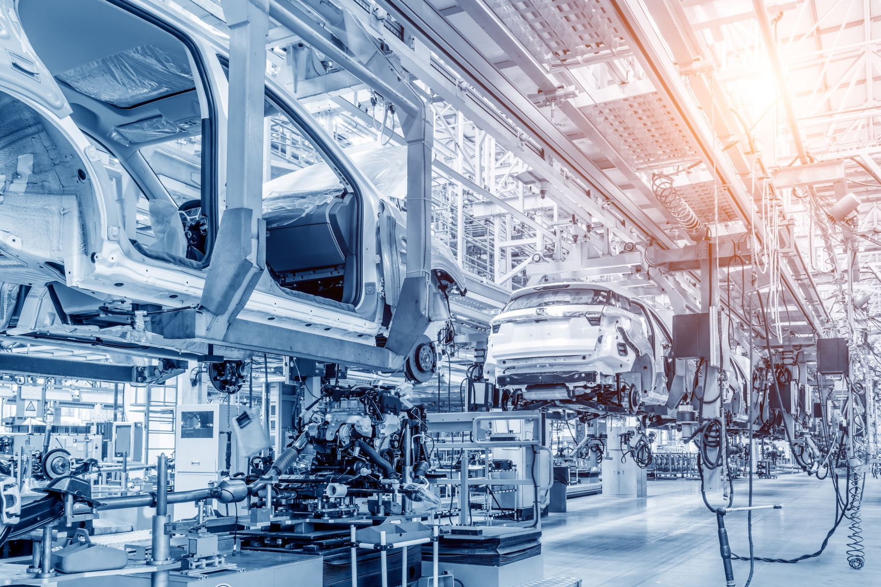 Produktionslinie Automobilindustrie